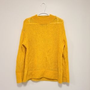 & OTHER STORIES Mustard Yellow Wool Blend Sweater